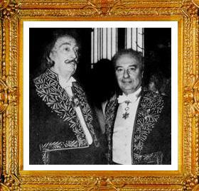 Salvador Dali and Jean Carzou